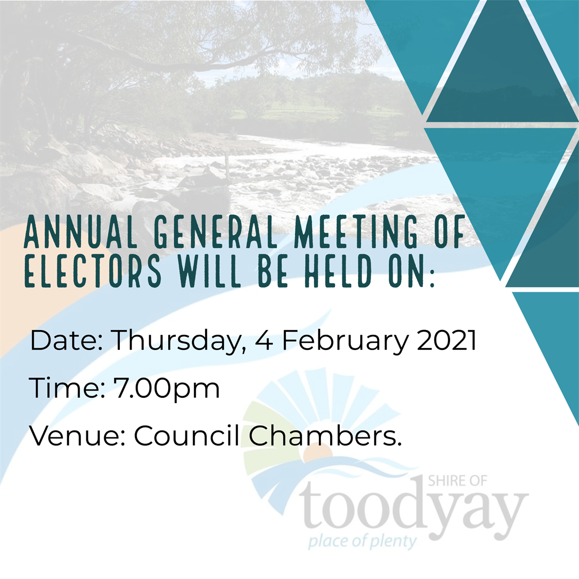 ANNUAL GENERAL MEETING OF ELECTORS 2021