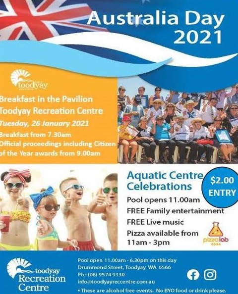 Australia Day Celebrations 26 January 2021