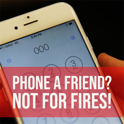 Phone a Friend? - Not for Fires